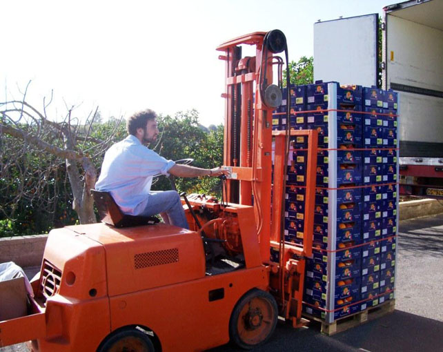 Loading the pallets